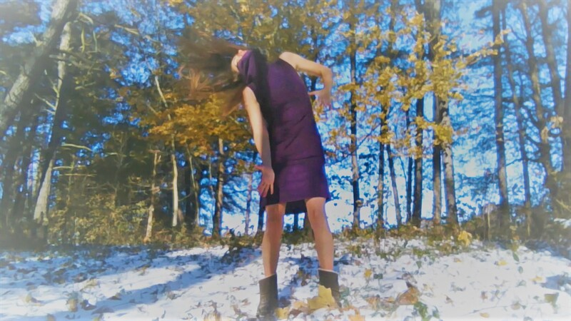Dancer, Tessa Priem, dancing outdoors in November