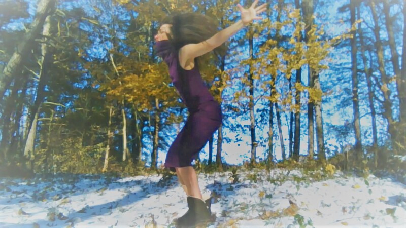 Dancer, Tessa Priem, doing her outdoor dance project